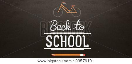 back to school against blackboard