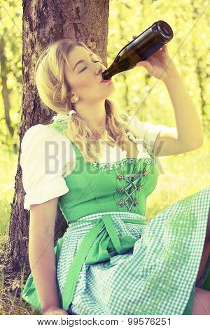 Oktoberfest blond German girl