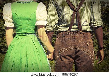 Interracial couple at Oktoberfest