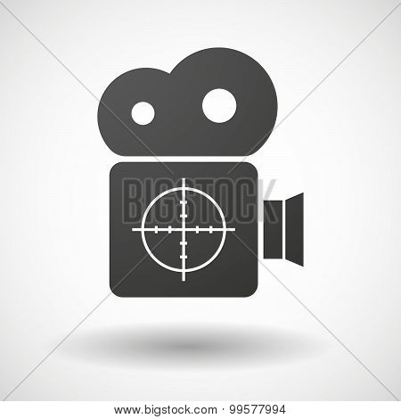 Cinema Camera Icon With A Crosshair