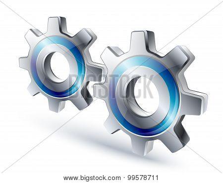 Settings Icon. Vector Illustration