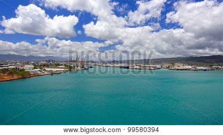 Blue Waters Of Honolulu Harbor Oahu