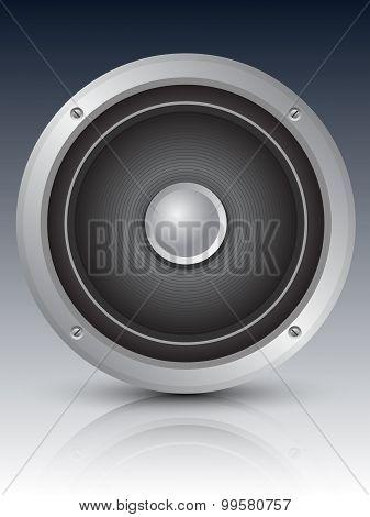 Audio Speaker Icon, Vector Illustration