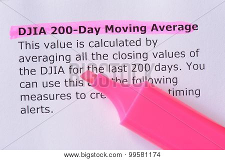Djia 200-day Moving Average