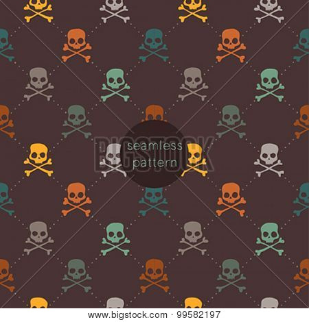 Halloween seamless pattern. Vector illustration.