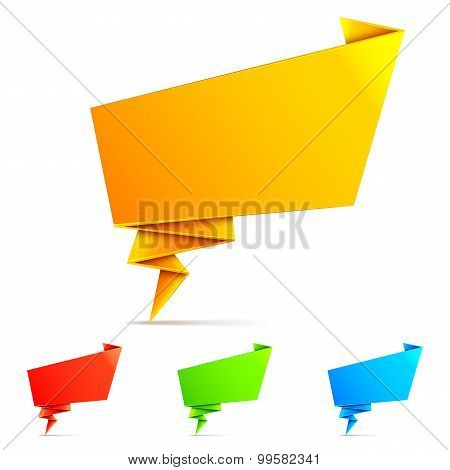 Origami Paper Speech Bubbles