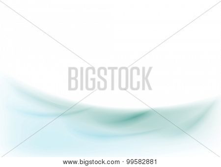 Abstract smooth shiny wavy background. Vector card illustration