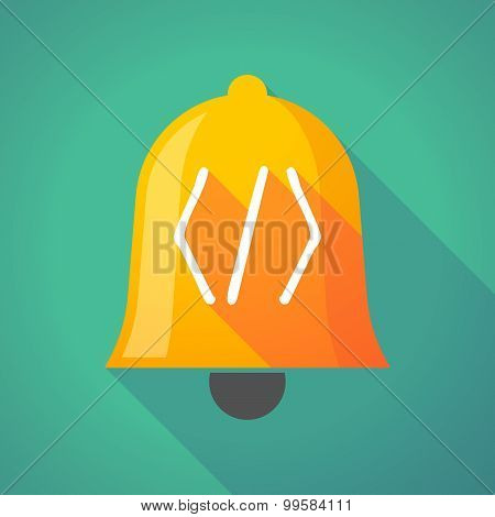 Bell Icon With A Code Sign