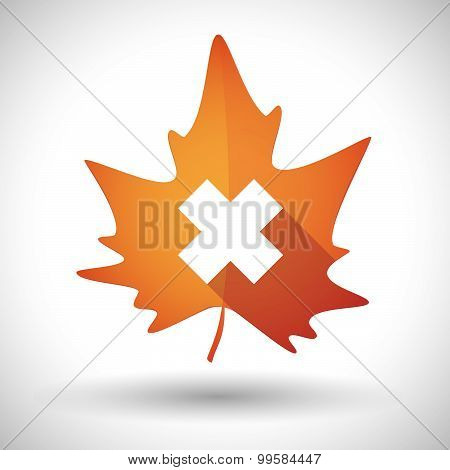 Autumn Leaf Icon With An Irritating Substance Sign
