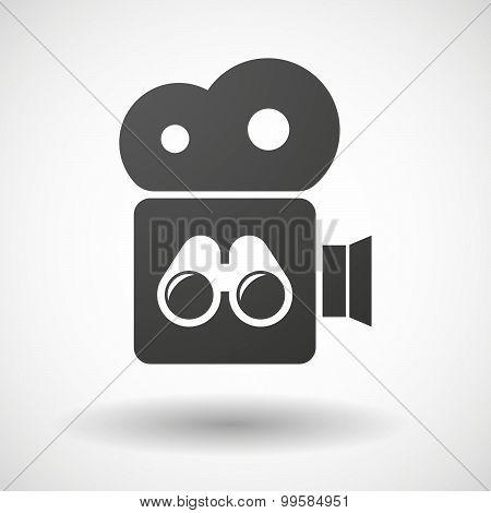 Cinema Camera Icon With A Binoculars