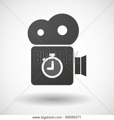 Cinema Camera Icon With A Timer