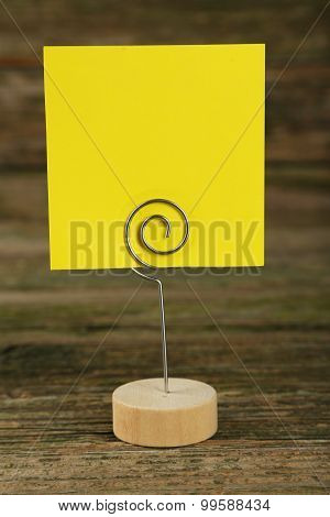 note paper on a holder