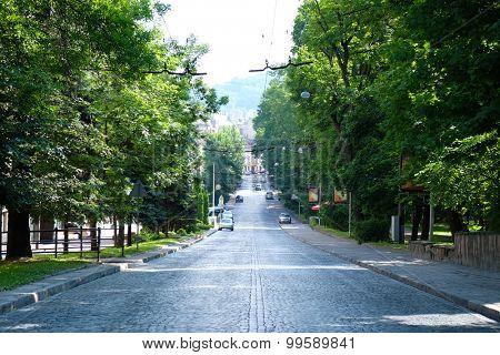 Green city street