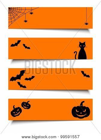 Halloween web banners. Vector eps-10.