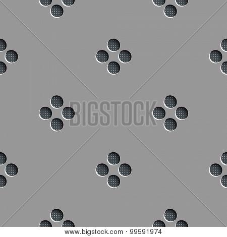 Seamless Vector Circle Background. Gray Regular Texture