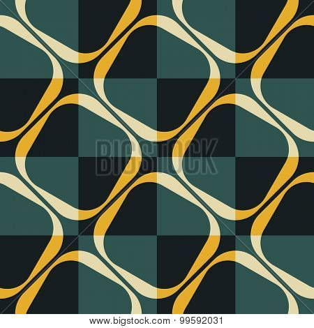 Seamless Grid Pattern. Vector Background. Regular Texture