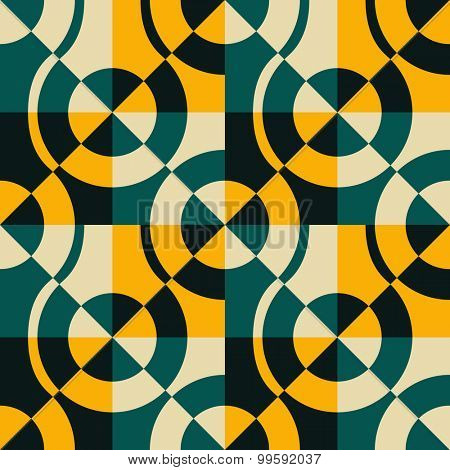 Seamless Circle and Triangle Pattern. Abstract Background