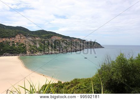 Peaceful sea in Dai Lanh cape, Phu Yen, Viet nam in noon