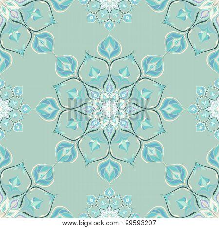 Colored mandala pattern with beautiful ornament