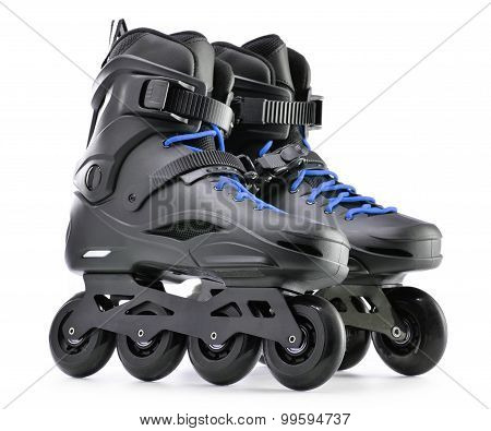 Pair Of Inline Skates Isolated On White Background