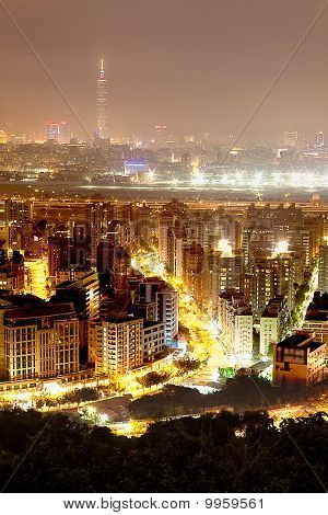 Taipei city in night