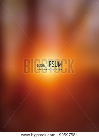 Vector blurred background - Sundawn