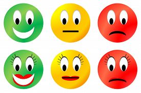 picture of angry smiley  - Colorful happy - JPG