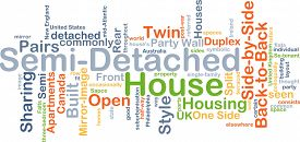 image of duplex  - Background concept wordcloud illustration of semi - JPG