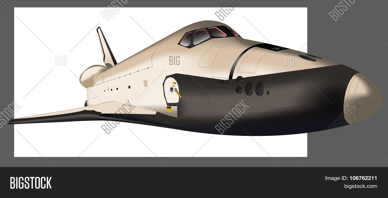 vektorgrafik und foto space shuttle vector bigstock. Black Bedroom Furniture Sets. Home Design Ideas