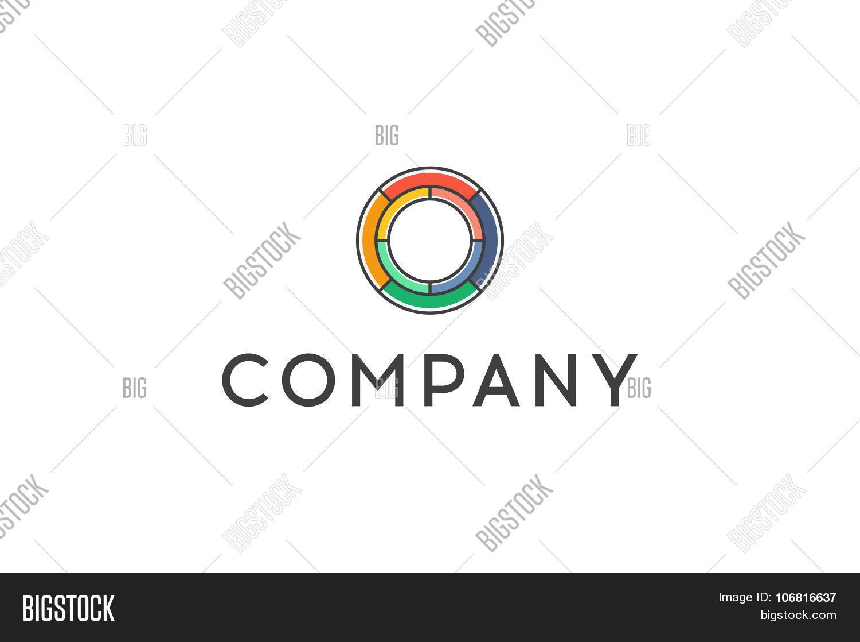 Circle Logo Line Art Design Stock Vector Stock Vector