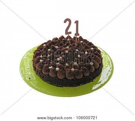 Birthday cake twentyone