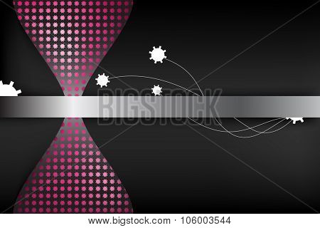 Abstract background. Sand-glass mechanics.