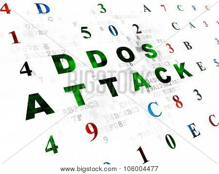 Privacy concept: DDOS Attack on Digital background