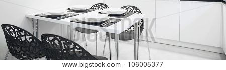 Dining Table With Dinnerware