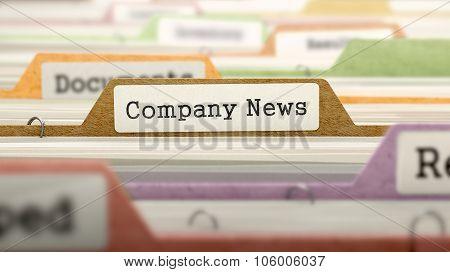 Folder in Catalog Marked as Company News.