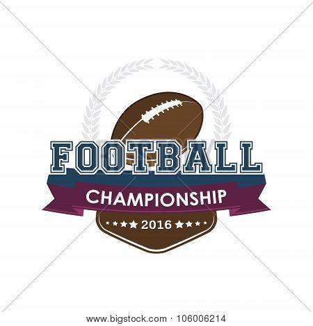 Football championship emblem vector