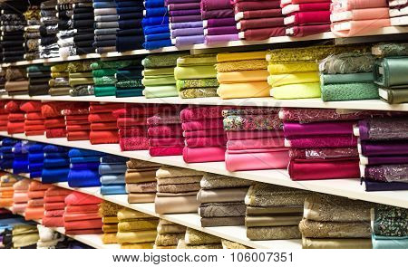 Rolls Of Fabric And Textiles