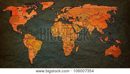 Senegal Territory On World Map
