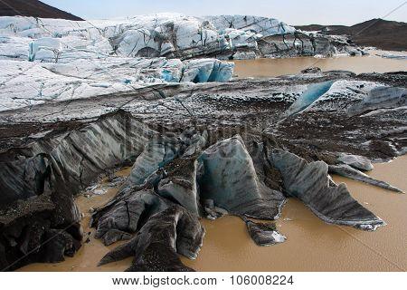 Icelandic glacier - Vatnajokull