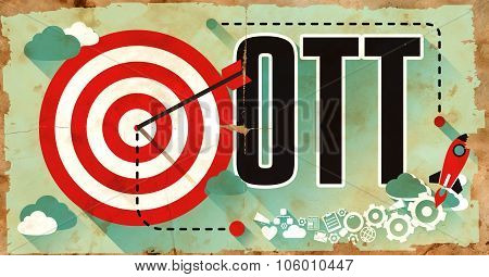 OTT Word on Grunge Poster.