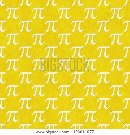 Yellow And White Pi Symbol Design Tile Pattern Repeat Background