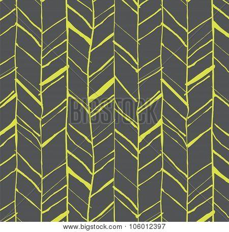 Hand Drawn Herringbone Pattern