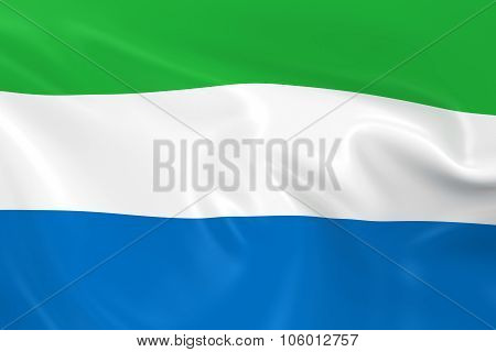 Waving Flag Of Sierra Leone - 3D Render Of The Sierra Leonean Flag With Silky Texture