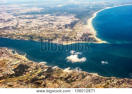 View Over Costa Da Caparica - Aerial View