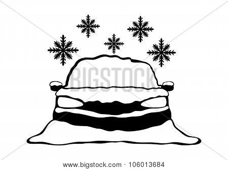 Car under snow.