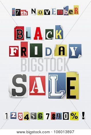 Background of Black friday sale