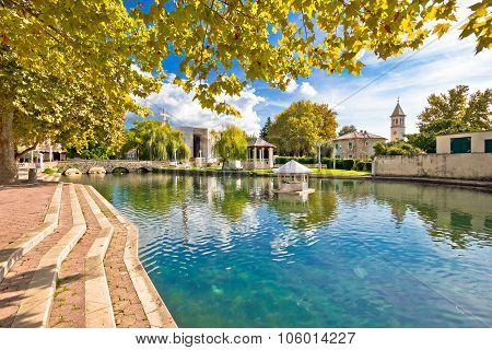 Town Of Solin And River Jadro