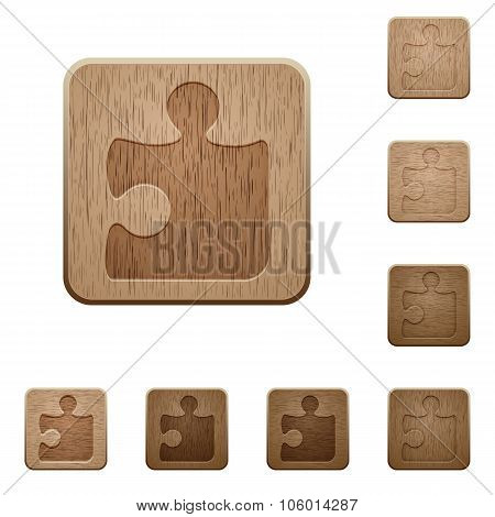 Puzzle Wooden Buttons
