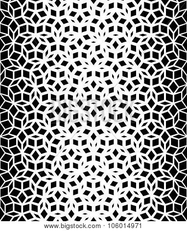 Vector Seamless Black And White Pentagon Star Lace Pattern