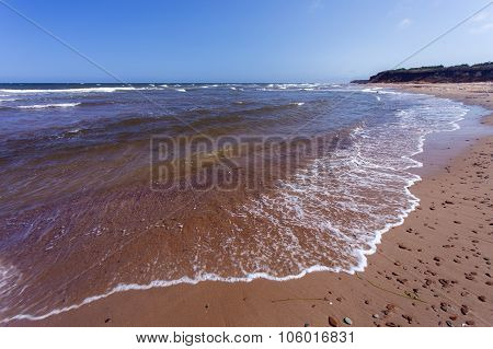 beach with red sand, Prince Edward Island